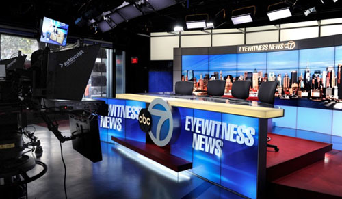 ویدئو وال در استودیوهای خبری